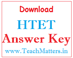 image : Download HTET Answer Key @ TeachMatters