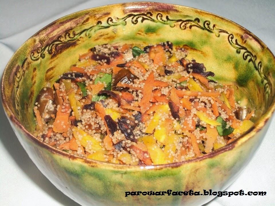 surówka amarantusowo - marchwiowa w parowarze