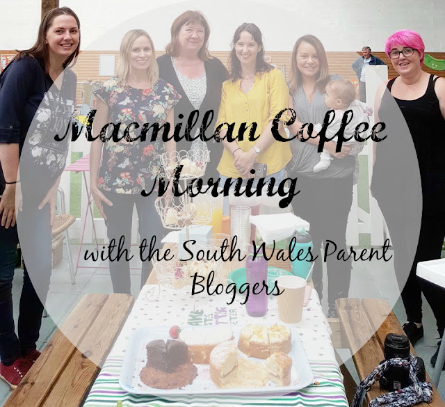 Macmillan coffee morning with the south wales parent bloggers
