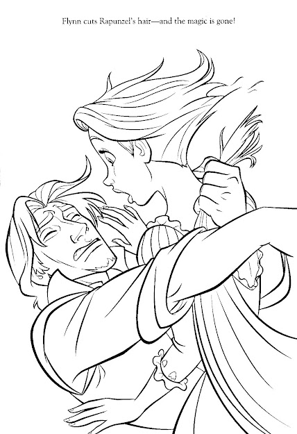Disney Princess Coloring Pages Rapunzel And Flynn Free Image