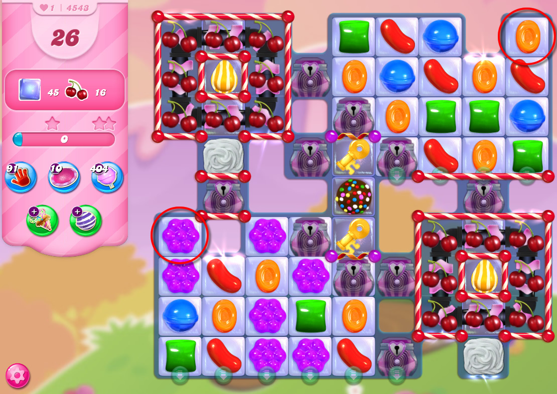 Candy Crush Saga level 4543