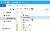 Cancellare cartelle $Windows.~BT e $Windows.~WS