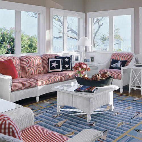 Nautical Living Room Pictures: Everything Coastal....: Ten Patriotic Rooms