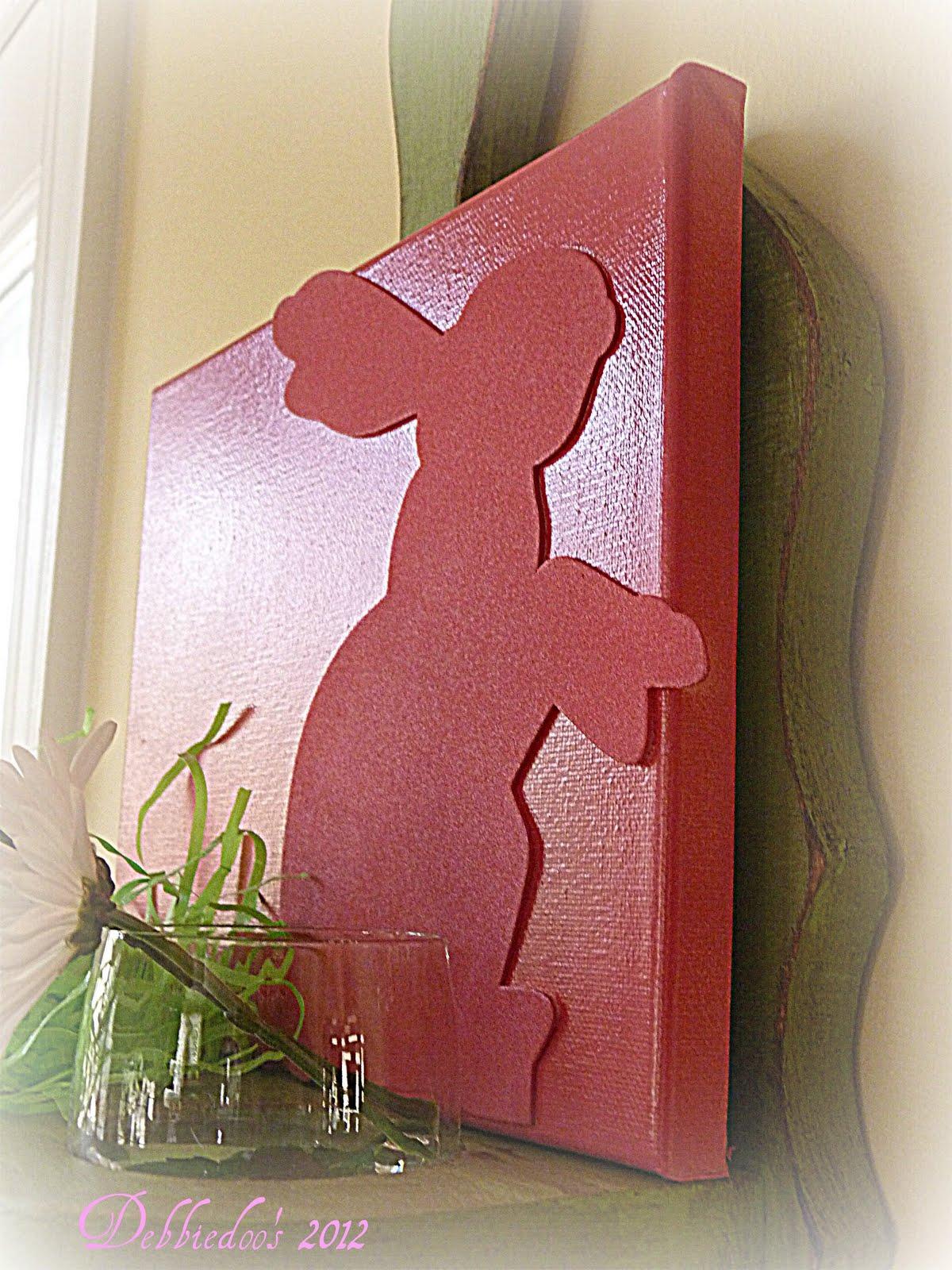 dollar tree bunny chair covers rental ottawa debbiedoo 39s spring art work diy canvas