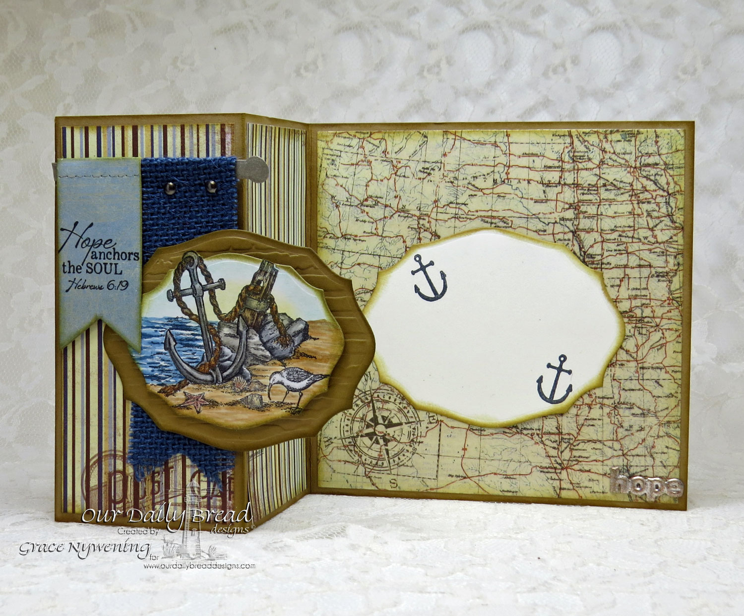 Stamps - Our Daily Bread Designs Anchor the Soul, ODBD Custom Pennants Die, ODBD Elegant Ovals Dies