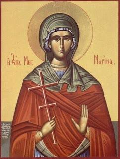 Ἡ Ἁγία Μαρίνα ἡ Μεγαλομάρτυς 17 Ιουλίου