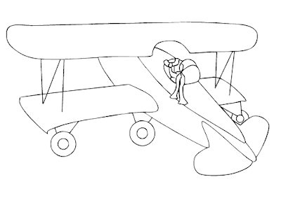 Gambar Mewarnai Pesawat Terbang - 8