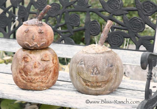 Quick Set Concrete Pumpkins, Bliss-Ranch.com