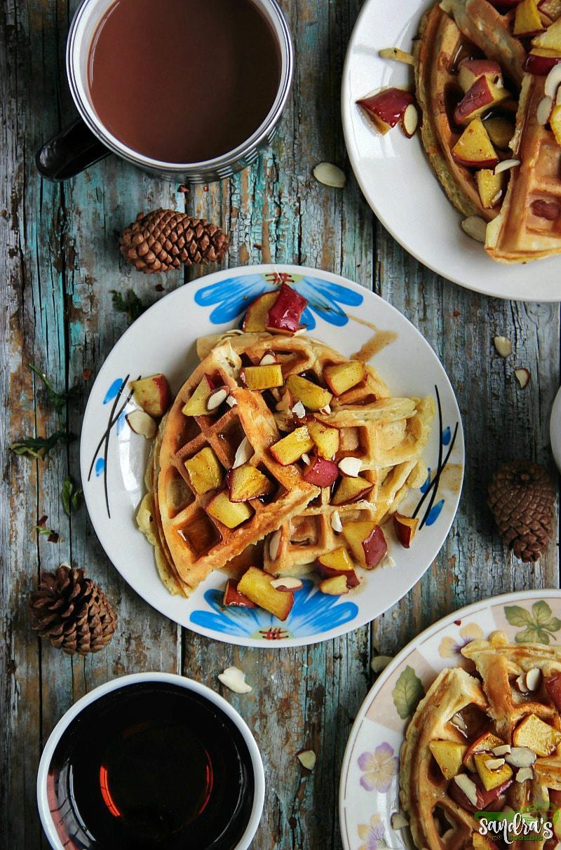 Apple Cinnamon Waffles #recipe