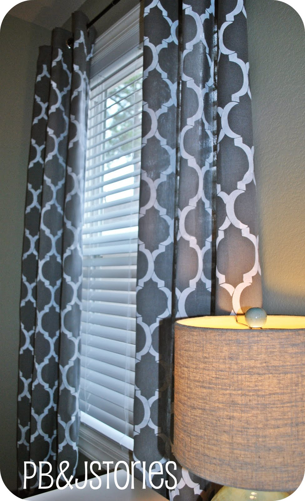 Pbjstories Diy Painted Curtains