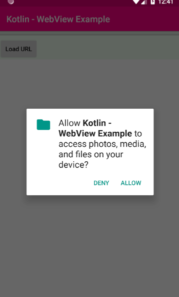 android kotlin - WebView file download example