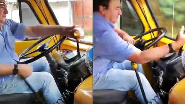 dirigindo caminhão fnm feneme