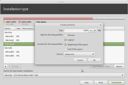 Berapa Ukuran Partisi Swap Untuk Installasi Linux