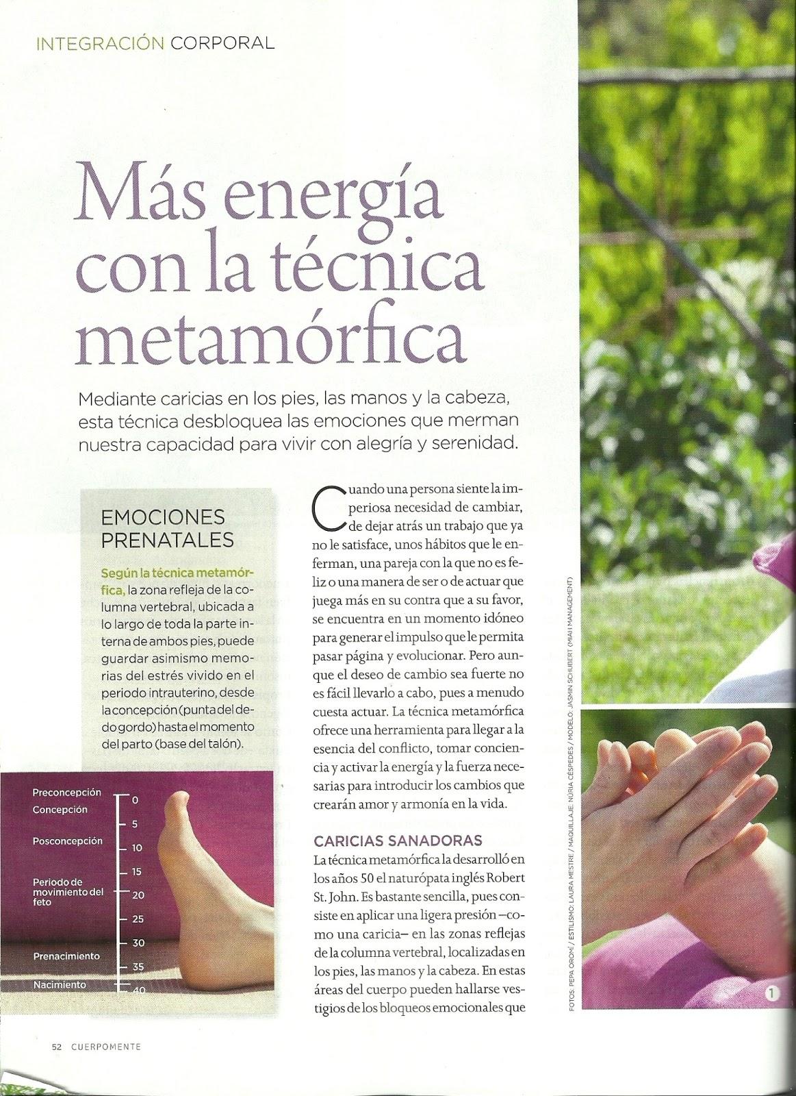 Más energía con la técnica metamórfica - Artículo de prensa