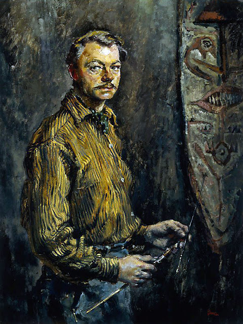 Charles William Bush, Self Portrait, Portraits of Painters, Fine arts, William Bush, Portraits of painters blog, Paintings of Charles William Bush, Painter Charles William Bush