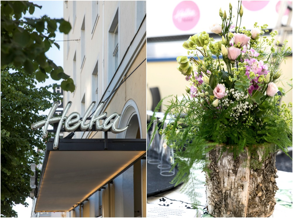 Hotel Helka, Hotelli, Helsinki, kesäjuhlat, bileet, stailaus,, juhlat, juhla, pihajuhla, Helka, 90-vuotisjuhlat, keskusta, sisäpiha, Finland, summer, party, kukka-asetelma, kesäkukat, asetelma