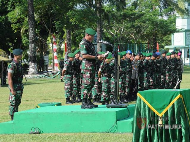 Suko Pranoto Pimpin Penutupan Peleton Beranting Yudha Wastu Pramuka Kodam Pattimura