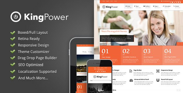 King Power v1.09 Retina Ready Multi-Purpose WordPress Free Theme