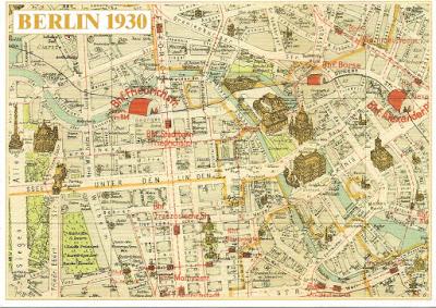 Carte Berlin 1930