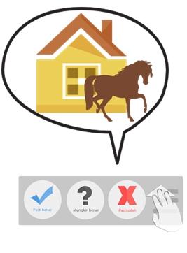 """""""tadi malam ada kuda lewat"""" itu pasti benar? Mungkin benar? Atau pasti salah?"""