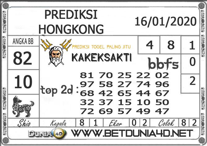Prediksi Togel HONGKONG DUNIA4D 16 JANUARI 2020