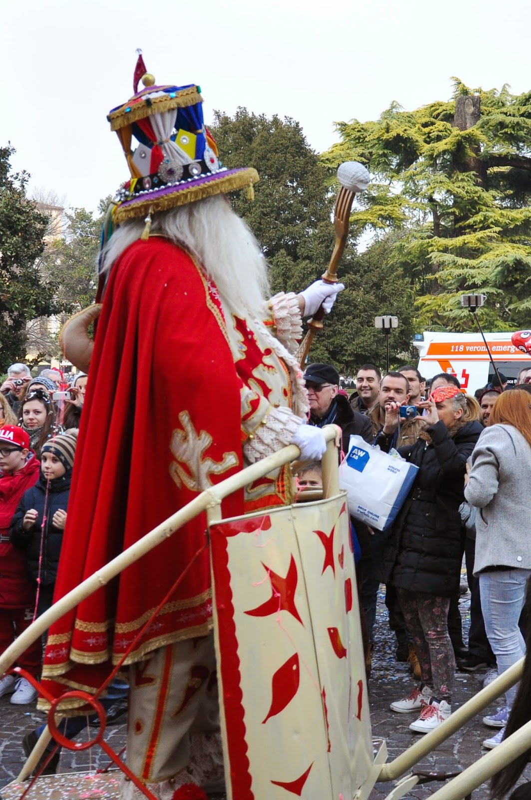 Il Papa del Gnoco at Venerdi Gnocolar at Verona Carnival