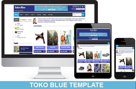 Template toko online blogspot toko blue