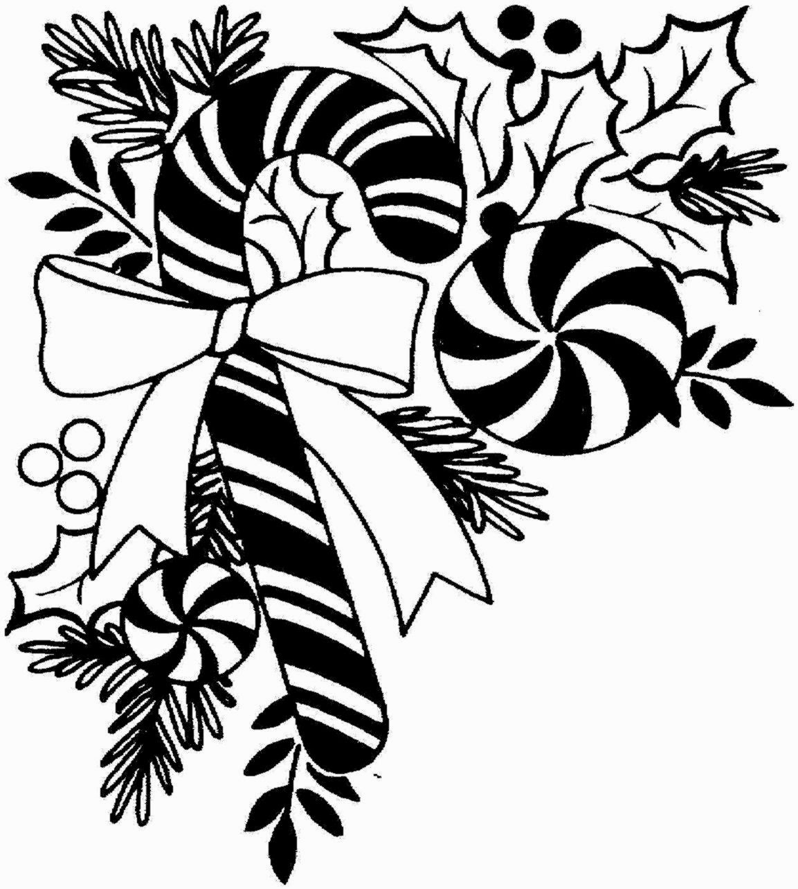 Clip Art Christmas Black And White