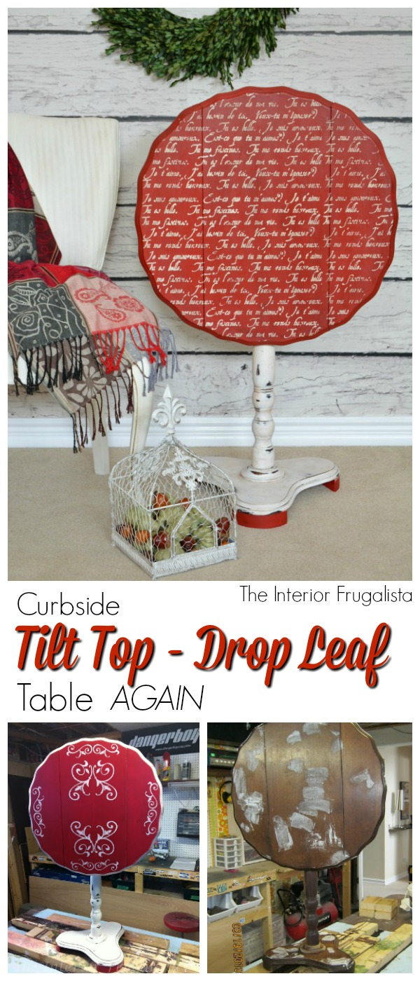 Curbside Tilt Top Drop Leaf Table AGAIN