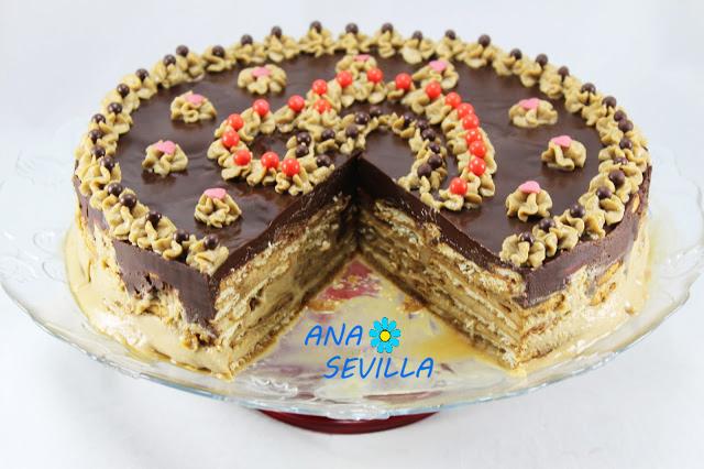 Tarta de galletas y moka Ana Sevilla con Thermomix