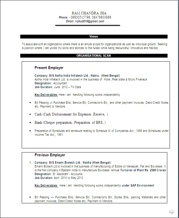 Resume Blog Co Resume Sample Of A Commerce Graduate Having 13