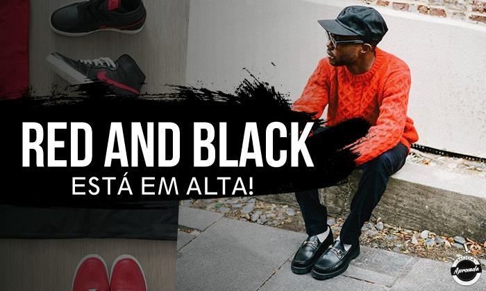Look Masculino Vermelho e Preto, tendência em Alta para 2018!