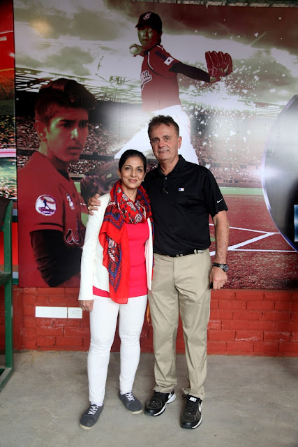 Rosie Sahni with Rick Dell Director Baseball development in Asia-