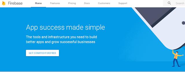 Home page Firebase