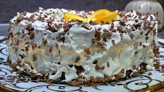 Портокалова торта със сметана и Дулсе де Лече
