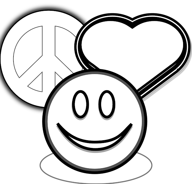 Free Coloring Pages Of Peace Sign Hearts