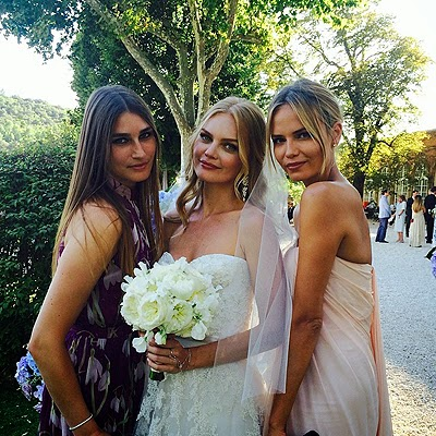 Eugenia Volodina, Elena Kuletskaya and Natasha Poly at a wedding