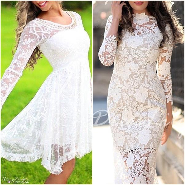 Vestido de noiva curto Dresslily