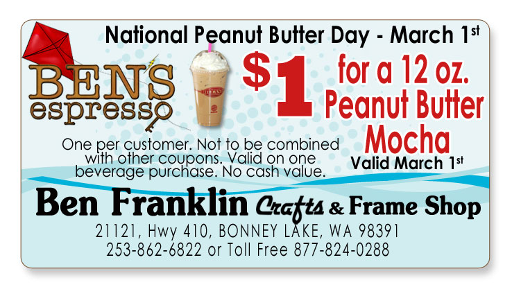 Ben franklin crafts and frame shop february 2012 for Ben franklin craft store coupons