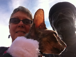 Cornish Rex Selfie with Teri and Bronze Bob