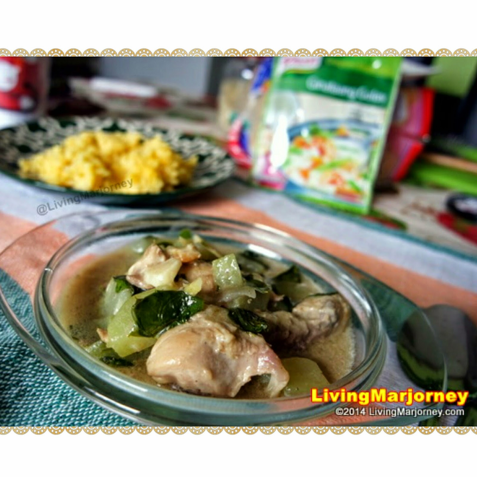 Knorr Ginataang Manok with Sayote and Malunggay Recipe