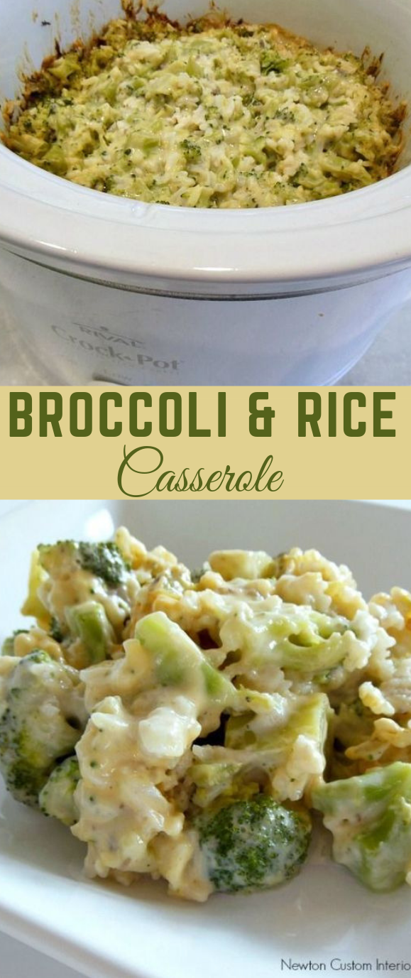 Broccoli and Rice Casserole #broccoli #vegetarian