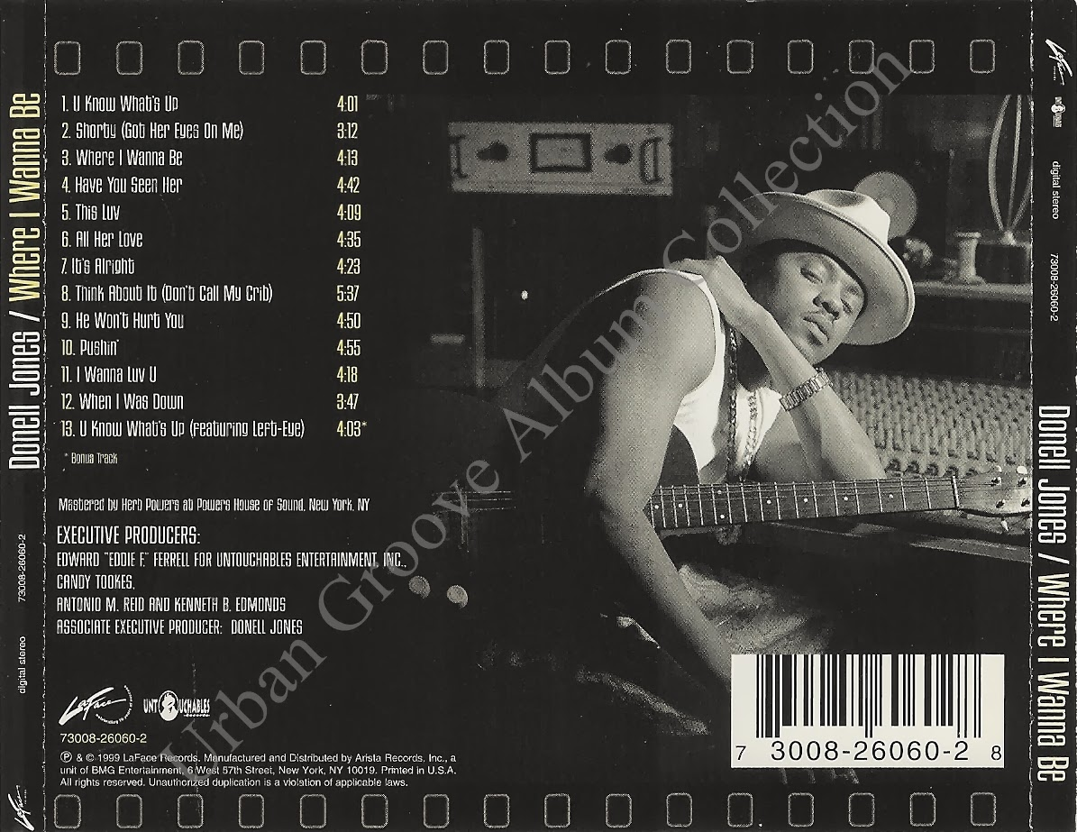 Urban Groove Album Collection Donell Jones Where I Wanna Be 1999 R B Male Singer