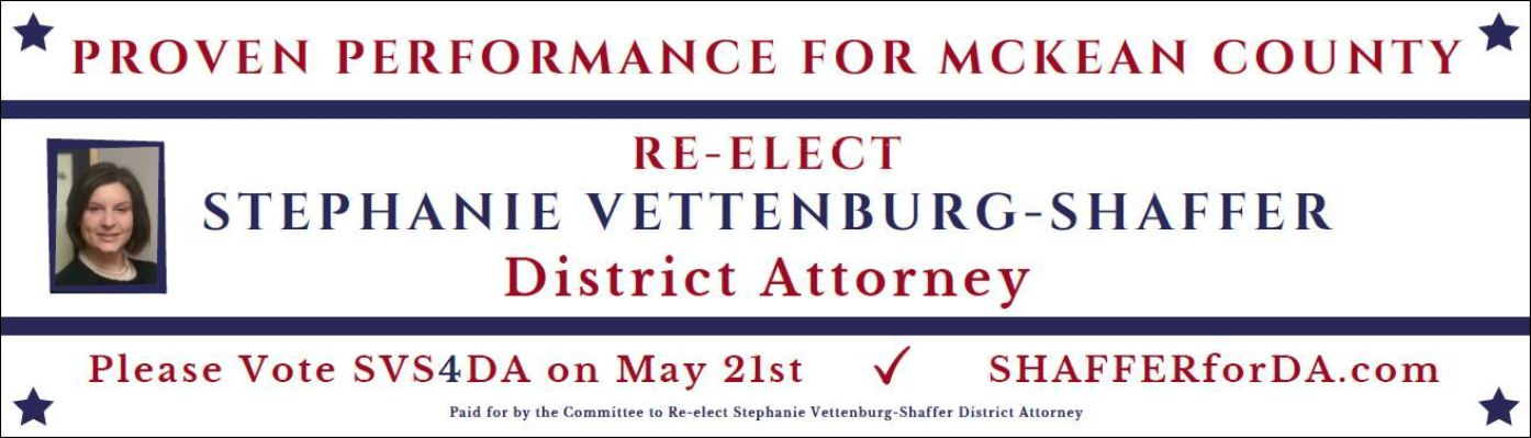 RE-Elect Stephanie Vetterburg-Shaffrer DA