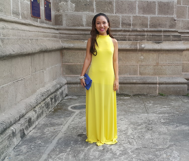 The Budget Fashion Seeker - OOTD Yellow Gown from Florence Fling 1