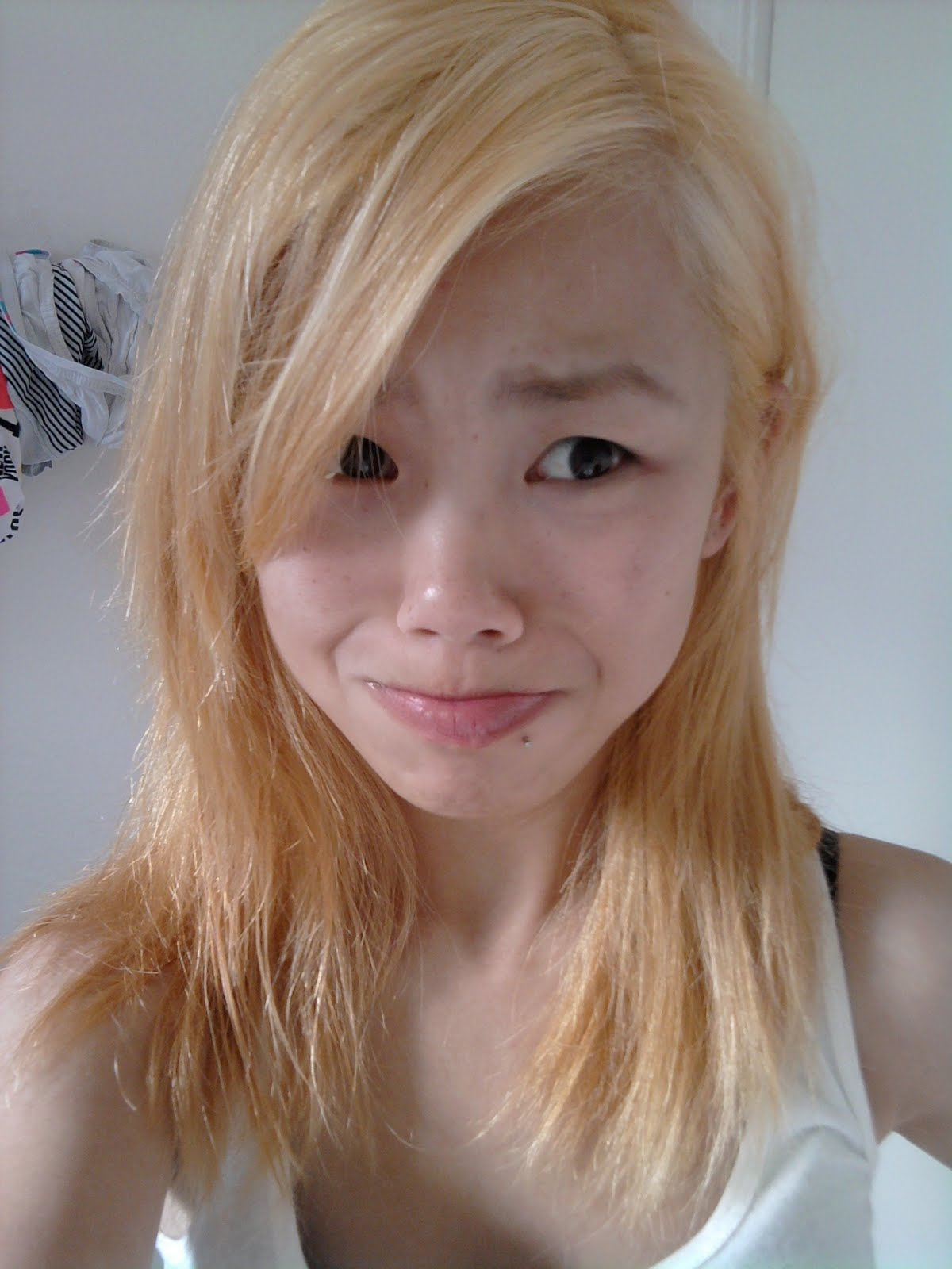 the blonde asian