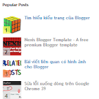 Đánh số thứ tự cho Popular Posts