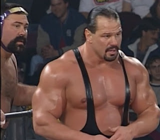 WCW World War 3 1997 - The Steiner Brothers defended the tag team titles against The Blue Bloods
