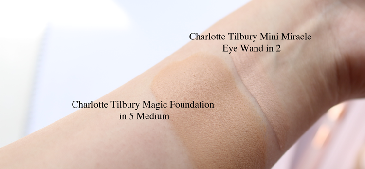 Charlotte Tilbury Mini Miracle Eye Wand & Magic Foundation - Review & Swatches