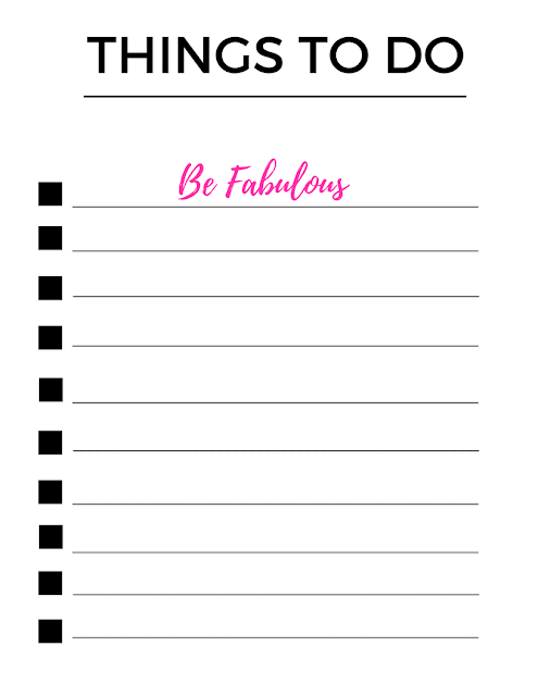 Eating Fabulously, Christopher Stewart, To Do List printable, printable